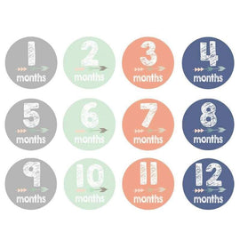 Baby Month Milestones Arrow Photograph Sticker