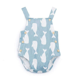 Blue Whale Baby Romper - bottoms