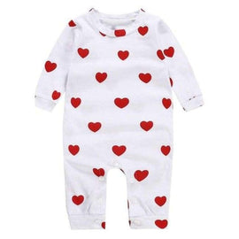 Cloud And Heart Playsuit - 1 / Newborn - sleepwear