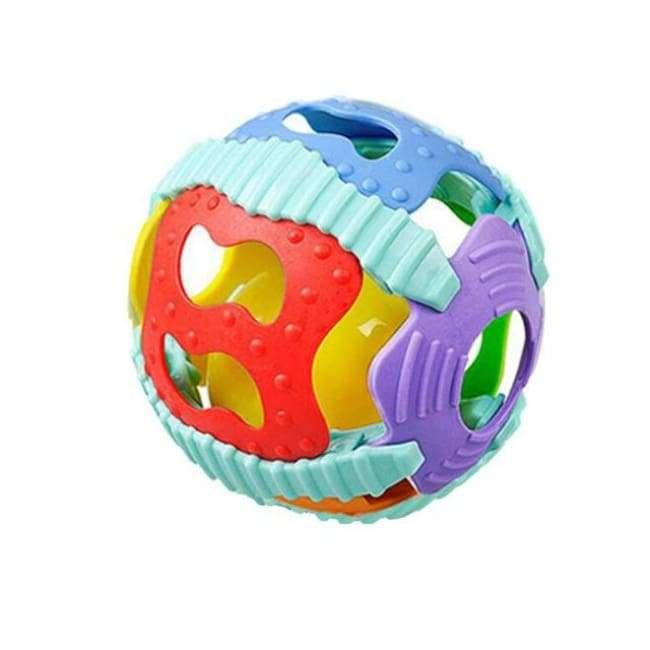 Colorful Teether Play Ball - A - rattle & teether