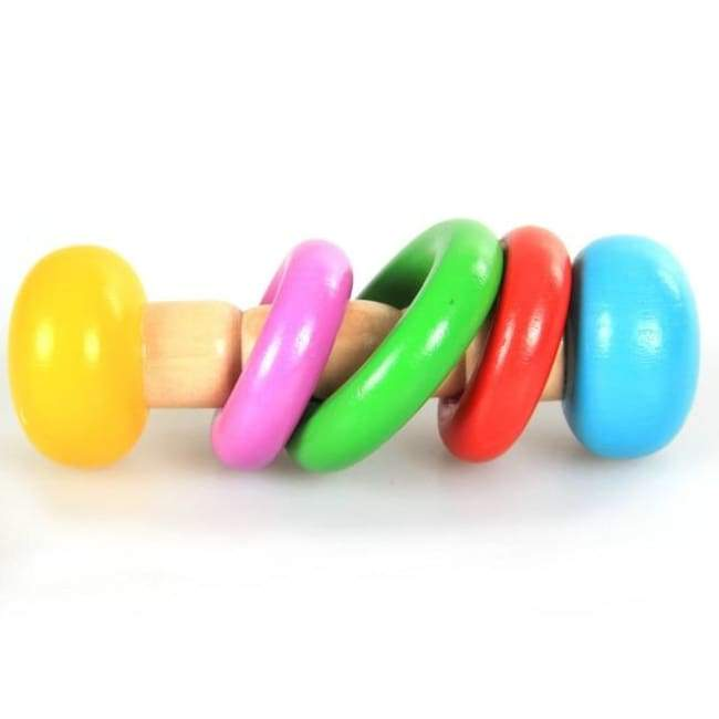 Colorful Wood Rattle Toys - rattle & teether