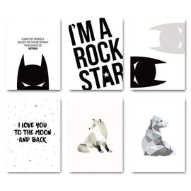 Cool Unique Wall Poster - 15x20cm No Frame / 6 pcs Set - posters