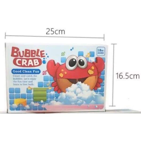 Crab Bubble Maker Bath Toy - baby bathing