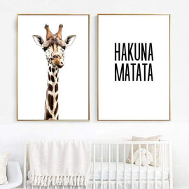 Giraffe Quotes Wall Poster - posters