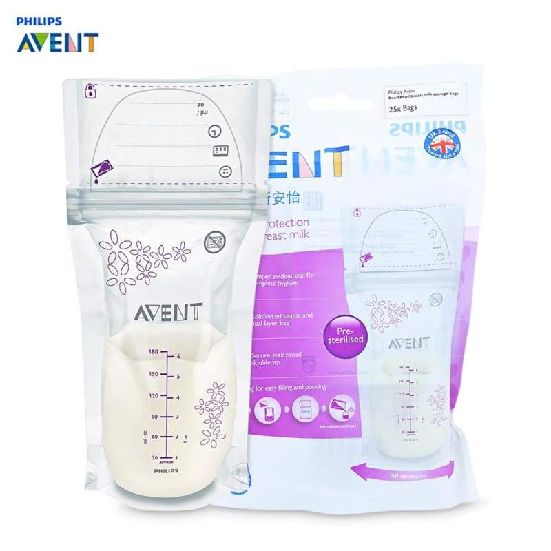 Philips Avent 25pcs 180ml Baby Breast Milk Storage Bag - breastfeeding