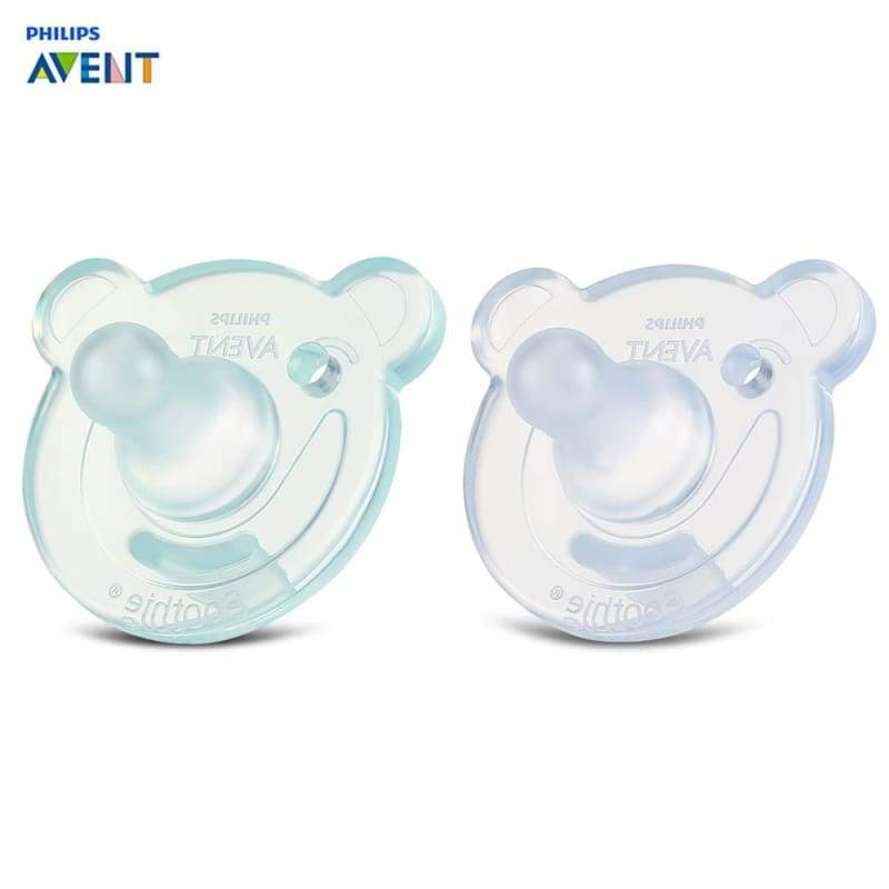 Philips Avent 2pcs (0-3M) Newborn Baby Silicone Pacifiers - Blue Green - pacifier
