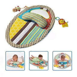 Play Mat With Mirror And Soft Toys - baby gym