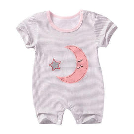Cute Pink Moon Jumpsuit Sleepwear