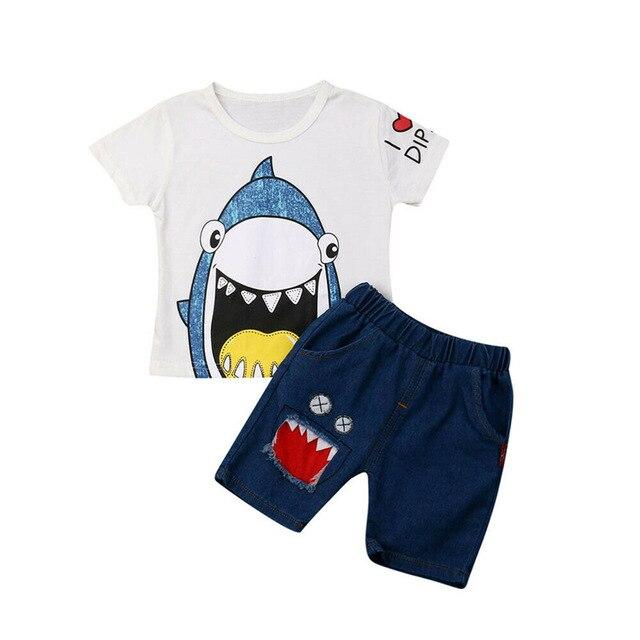 Baby Shark White T-shirt & Shorts