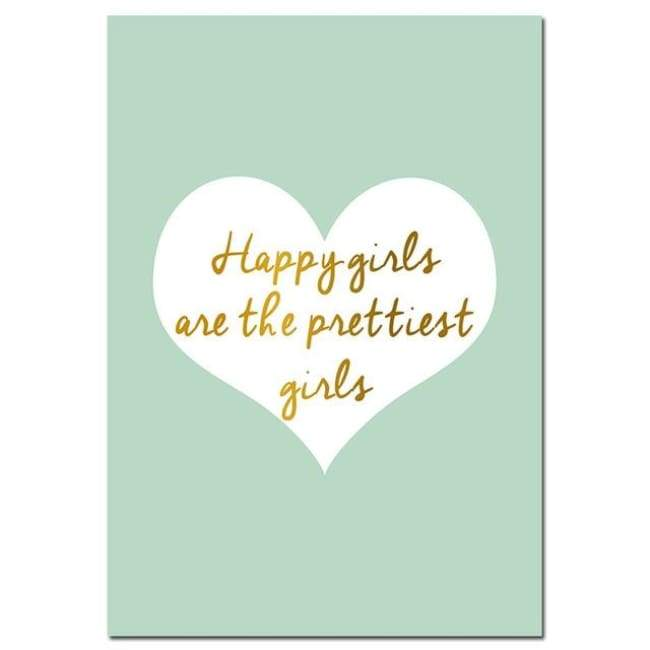 Quotes Hearts World Map Wall Poster - posters