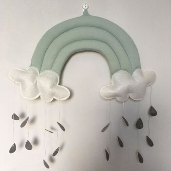 Rainbow Clouds Raindrops Wall Decoration - hanging decorations