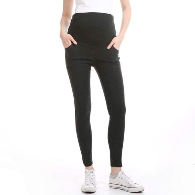 Skinny Jeans Maternity Clothing - Black / 3XL