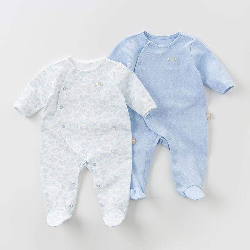 Soft Cotton 2pcs Blue Set Pajamas - Blue Set / 3M