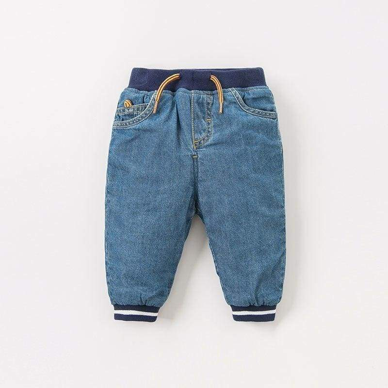 Soft Elastic Cotton Denim Trousers