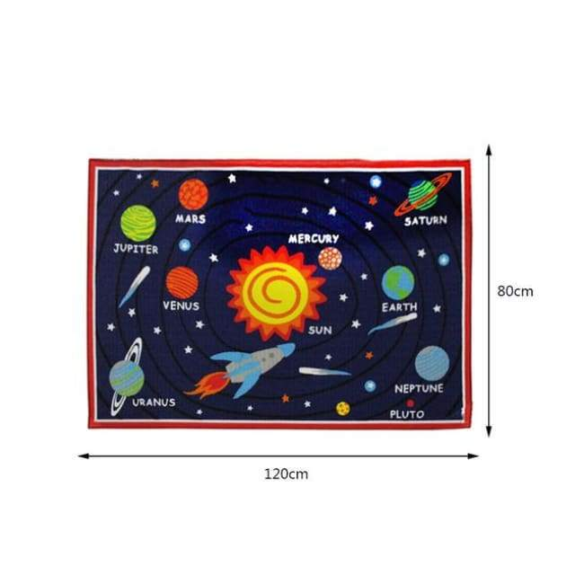 Space Play Mat Carpet - Round
