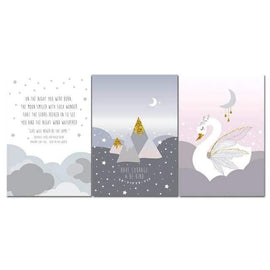 Swan Quote Nature Wall Poster - 13x18cm No Frame / 3 pcs Set - posters