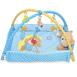 Teddy Bear Blue Activity Baby Gym - Blue / 110 x 110 - baby gym