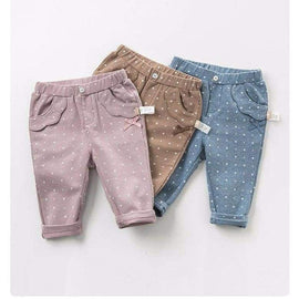 Toddler Full Length Dots Detail Trousers
