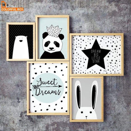 Wall Art Print Crown Panda - posters