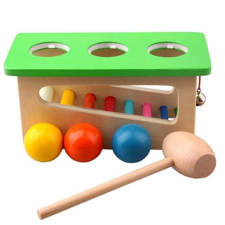 Wood Hammer Knock Ball Game - activity toys