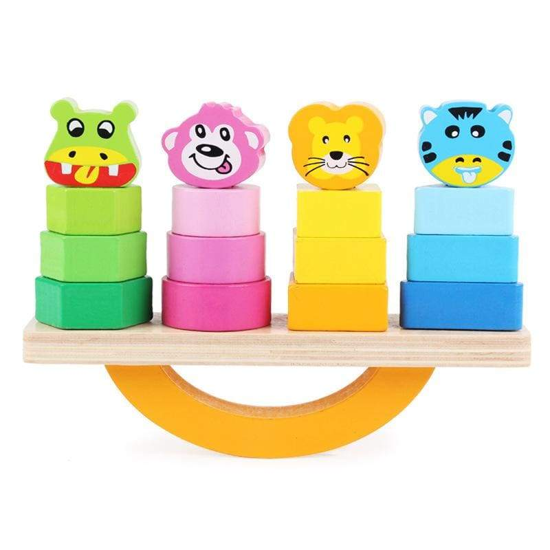Wooden Animal Balance Building Blocks - activity toys
