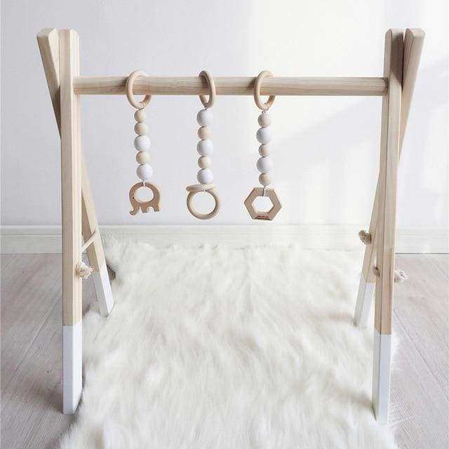 Wooden Baby Gym Colors - White / White - baby gym