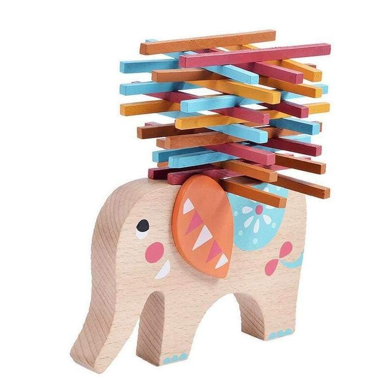 Wooden Balancing Elephant Game - games & puzzle