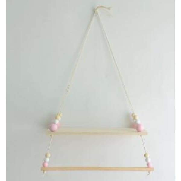 Wooden Wall Shelf Clothing Hanger - hanging decorations