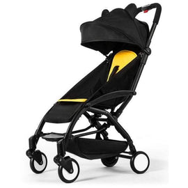 Yoya Pink Lightweight Portable Stroller - Black & Yellow - travel strollers