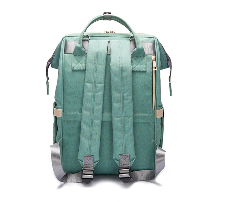 Waterproof Green Diaper Backpack With USB Charger