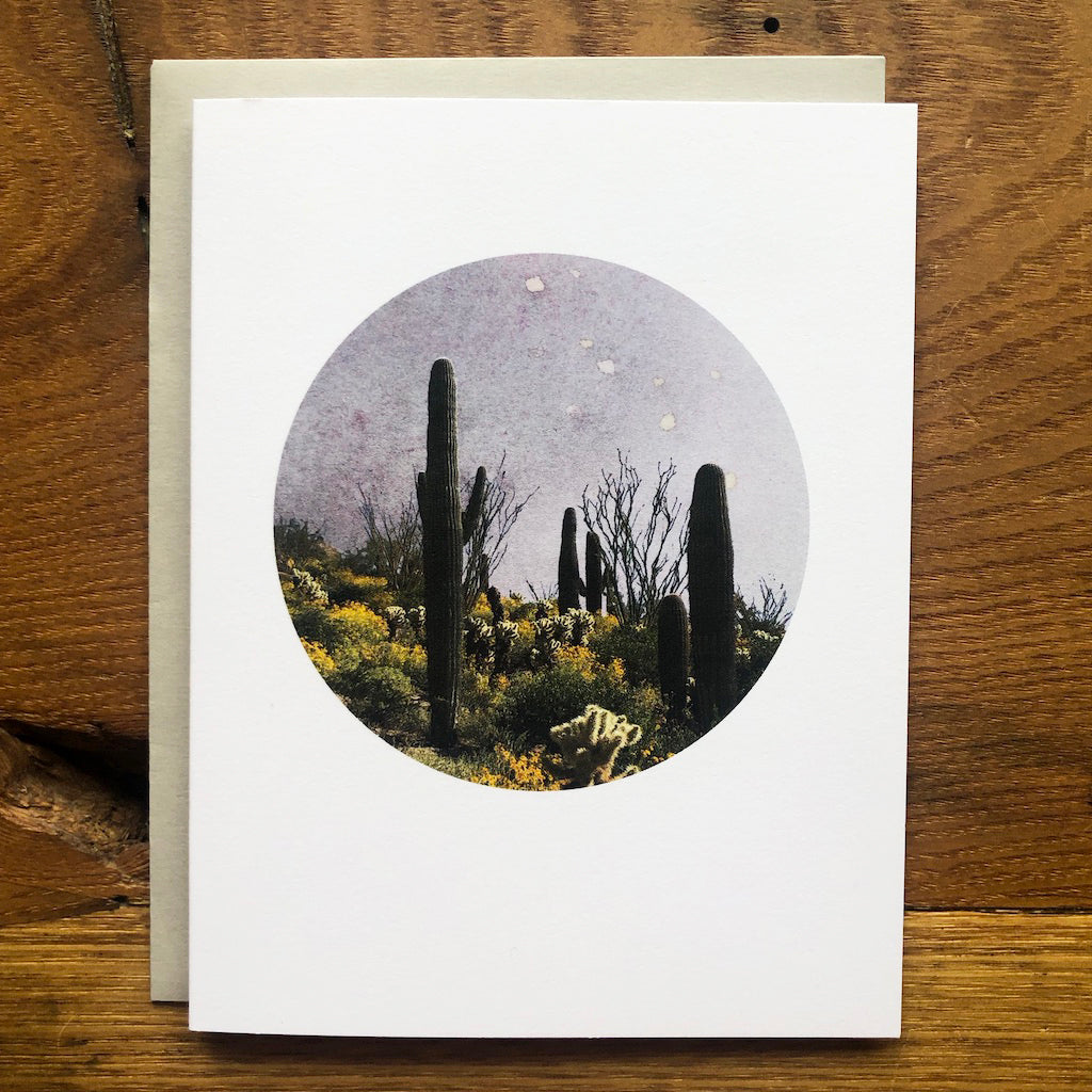 Lark Press - Saguaro Cacti Card