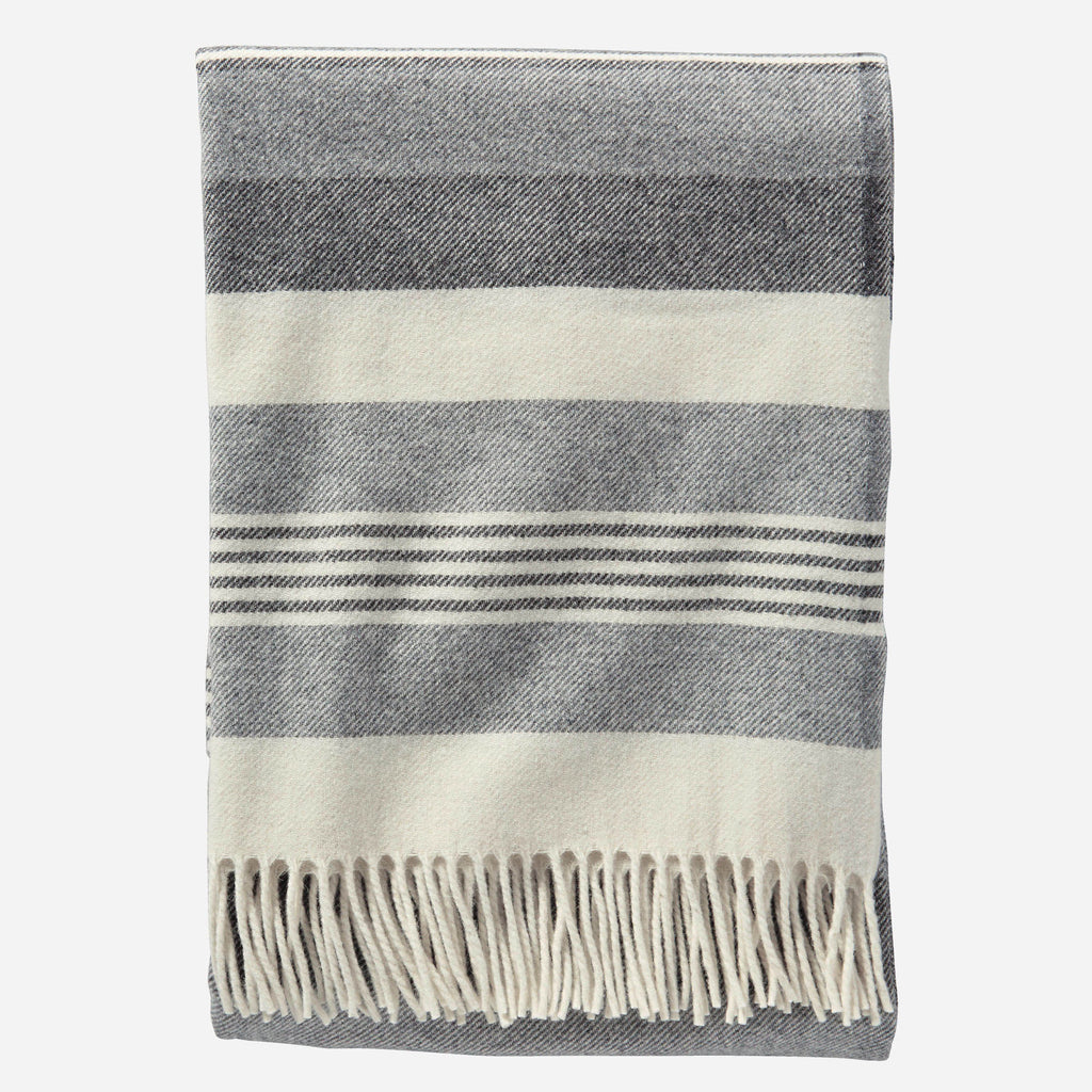 Grey Lambswool Throw