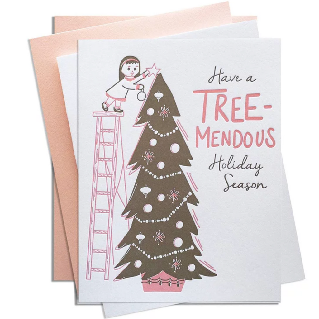 Tree-mendous letterpress box of 6 cards