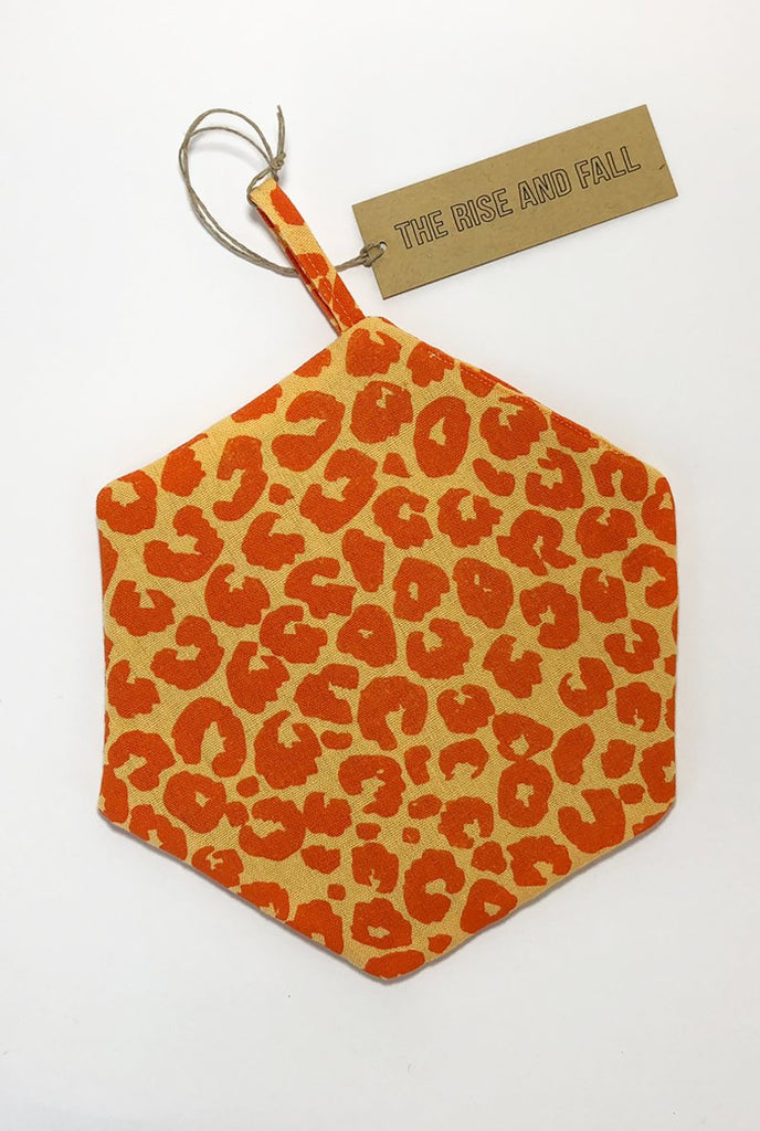The Rise And Fall - Leopard Trivet - Peach