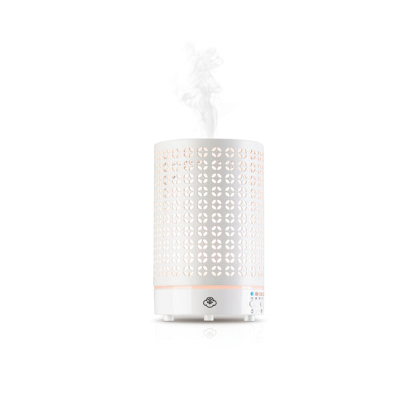 SERENE HOUSE  - Cosmos White Metal Aromatherapy Diffuser w/ LED Lights