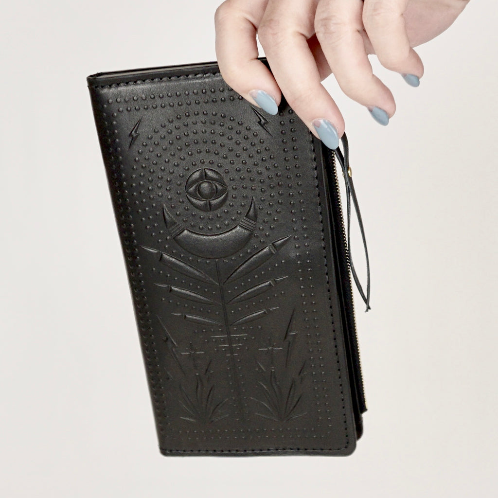 Night Safari Black Zip Wallet