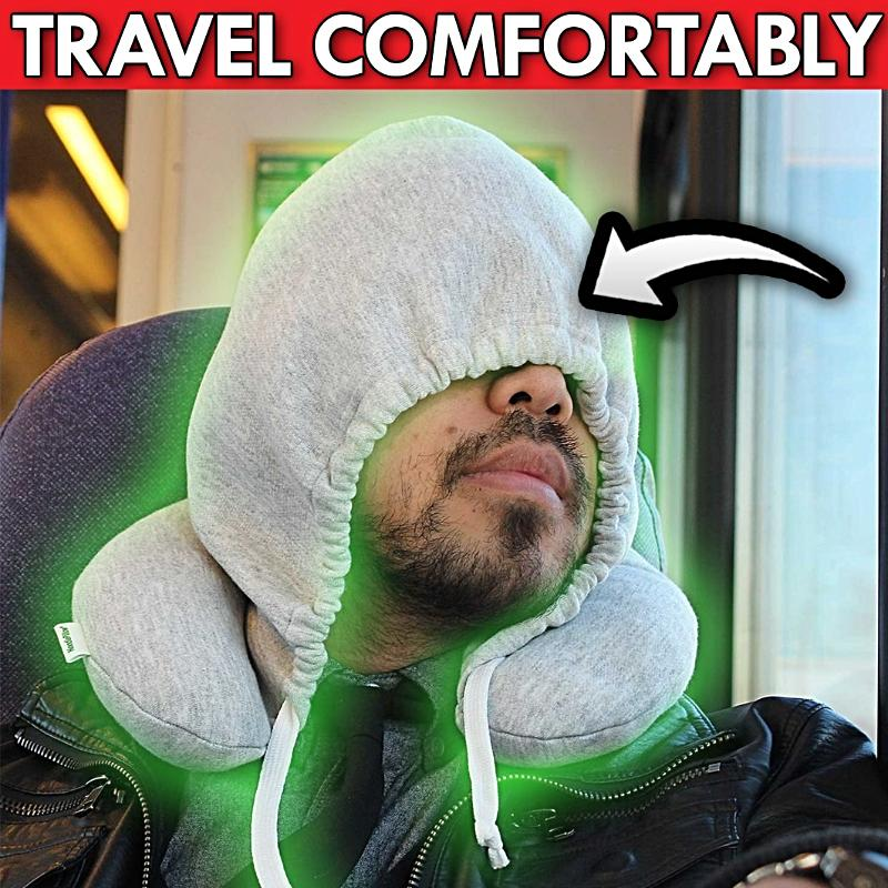 Hoodie travel  Neck Pillow