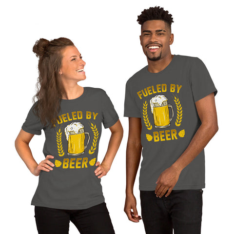 "Image of ""St. Patrick's Day - Fueled By Beer"" Short-Sleeve Unisex T-Shirt - see more colors and sizes"
