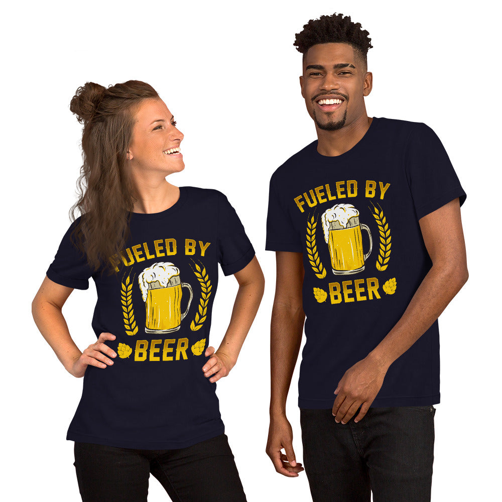 """St. Patrick's Day - Fueled By Beer"" Short-Sleeve Unisex T-Shirt - see more colors and sizes"