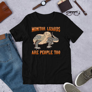 """Lizards Are People Too"" Short-Sleeve Unisex T-Shirt"