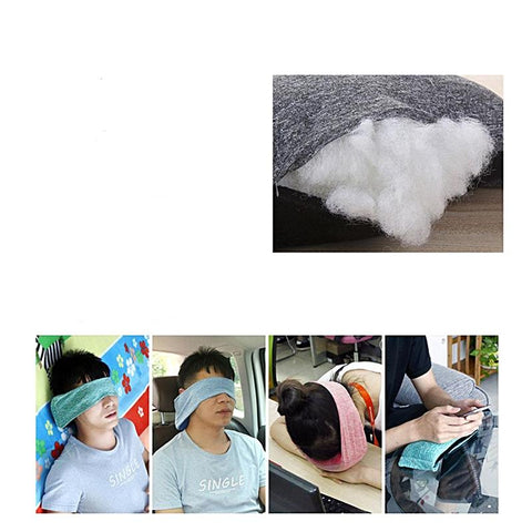 Image of travel pillow with eye mask for sleeping
