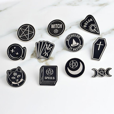 """Witches do it better"" enamel pins"