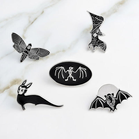 Image of Bats enamel pins