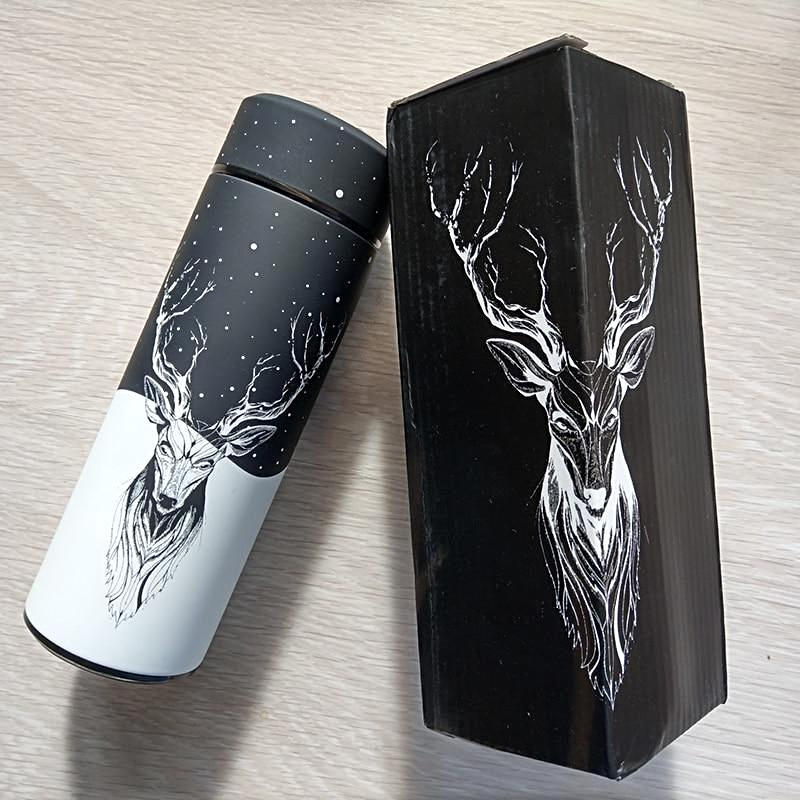 """Brave Heart Elk"" Stainless Steel Travel Mug"