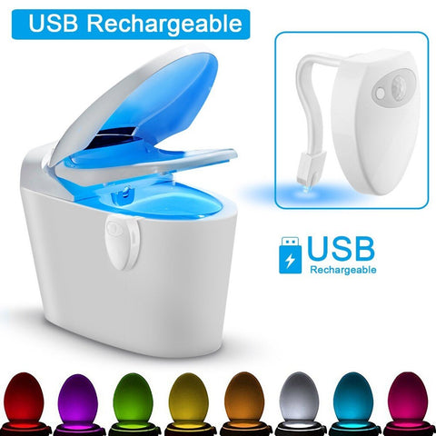 New! USB Rechargeable Toilet Glow Light