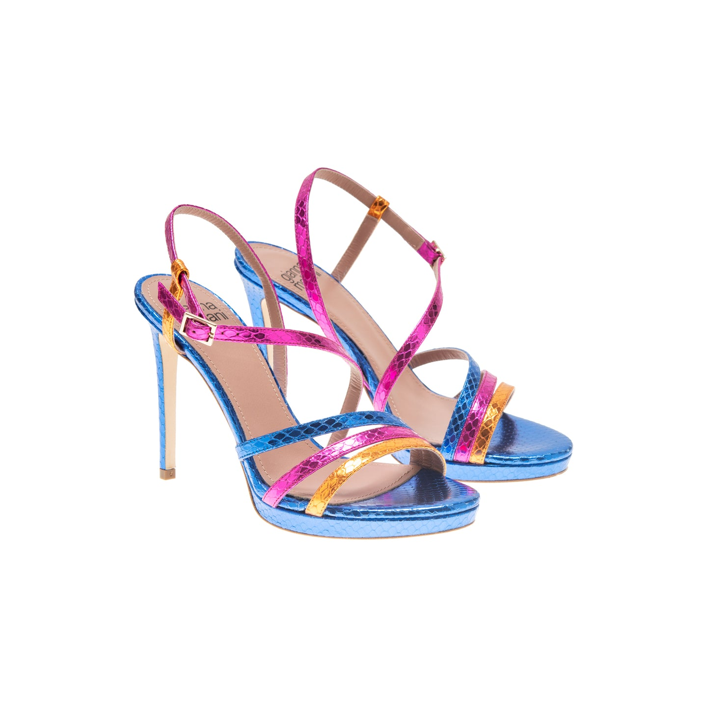 FESTA pyton multi laminated leather sandal