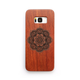 Floral Pattern Wooden Galaxy Phone Case