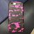 Pink Camouflage Leather iPhone Case