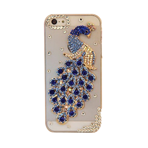Rhinestone Peacock iPhone Case
