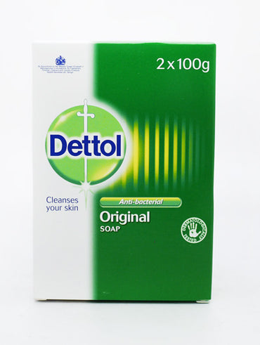 DETTOL ANTIBAC SOAP BAR ORIGINAL 2 x 100g